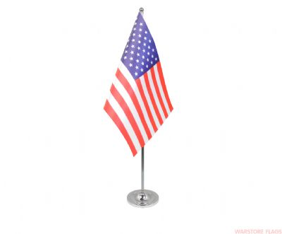 USA - DELUXE SATIN TABLE FLAG